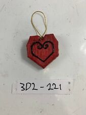 Ceramic Red Heart Christmas Ornament Holiday Decoration