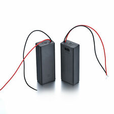 2PCS Battery Holder 2AAA Case 1.5V Box Cover ON/OFF Switch Wire Lead DIY Test