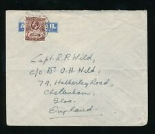 GOLD COAST TARKWA to GB 1931 KG5 1d COVERING AIR MAIL