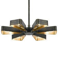 Crystorama Luna 6 Light Bronze and Gold Mini Chandelier - 594-EB-GA