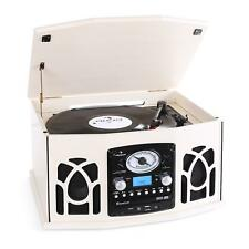 Auna Impianto Stereo Hifi Con Giradischi Lettore Cd Usb Sd Mp3 Radio Am/Fm Crema