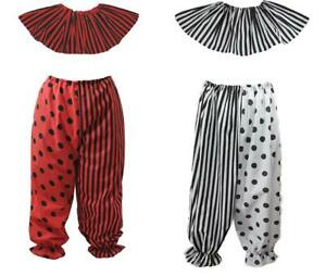 Unisex Circus Clown Pants Bloomers & Collar Fancy Dress