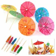 50pcs Paper Cocktail Parasols Umbrellas Drinks Picks Wedding Party Sticks