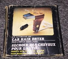 Retro 12V In Car Hair Dryer Compact Travelling Camping Portable Caravan De-icer