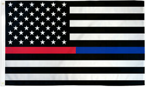 Blue Red Line Flag 2x3ft Thin Line flag Thin Line Police Fire Blue Line Red Line