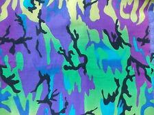 WTW Fabric Springs Large Rainbow Camo 2535 Mod Blender Retro Camouflage Quilt