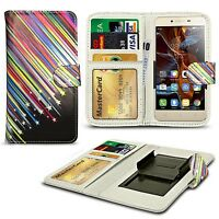 For Huawei Enjoy 6s - Clip On PU Leather Flip Wallet Book Case Cover