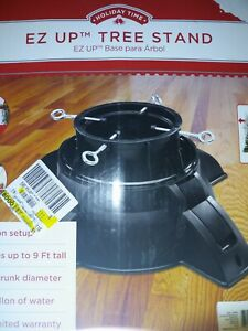 EZ Up Christmas Tree Stand - Holiday Decor - Pivots to Straighten - BLACK - NEW