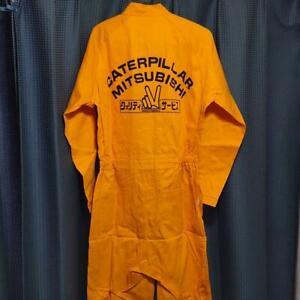 Mitsubishi Caterpillar Jumpsuit Orange Size L from Japan Free Shipping