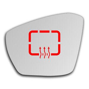 Left Side Clip On Heated Mirror Glass for Skoda Octavia 2013 - 2019 0736LSHP