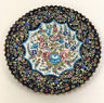 Molded Embossed Metal Hand Painted Charger Display Plate Vintage