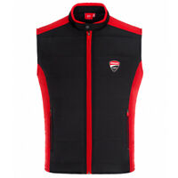 2019 Ducati Corse Racing MotoGP Mens Body Warmer Gilet Black/Red 100% Nylon