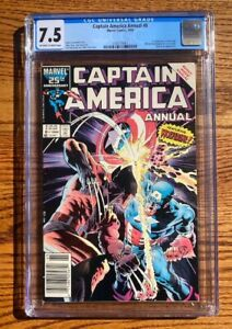 CAPTAIN AMERICA Annual 8 CGC 7.5 1986 Wolverine Appearance, 1st Overrider
