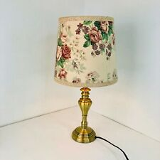 Medium Vintage Table Lamp Shade Drum Cone Floral Flowers Ditsy Retro Country