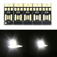 5PCS Night Lamp Mini Pocket Card USB Power LED 0.2W Light for Computer Laptop √
