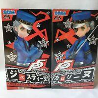 SEGA Persona 5 Justine & Caroline set premium figure 18cm Free-shipping