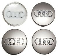 4x Audi Alloy Wheel Centre Cap 60mm Badge 4B0601170 TT A1 A2 A3 A4 A5 A6 A7 Q RS