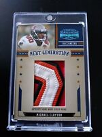 2005 Michael Clayton Donruss Gridiron Gear 4 Color Jumbo  Jersey Card 42/ 50