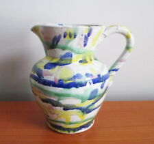 Cole Pottery Pitcher Kenneth George 1992 North Carolina Multi Colour Drip Signed