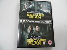 ESCAPE PLAN 1 and 2 . DVD  BOXSET . STARRING : SYLVESTER STALLONE . 15 .