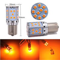 2 Pcs High Power 21W Amber BAU15s LED Light Bulbs for Car Auto Turn Signal Lamp