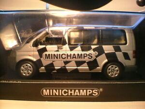 MEGA RARE EARLY MINICHAMPS 1/43 2003 VW T5 TDi BUS (MINICHAMPS STAFF VEHICLE NLA