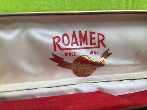 VINTAGE FAUX CROCODILE - ROAMER - SWISS WATCH - EMPTY BOX