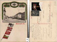 64965;Patriotik WW1 Fahnen Gmünd Marktplatz 1915