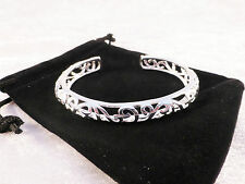 Silver Plated Ladies Filigree Style Cuff / Bangle / Bracelet + Free Gift Bag