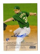 KENDALL GRAVEMAN  MLB 2015 STADIUM CLUB AUTOGRAPH ROOKIE CARD (OAKLAND ATHLETICS