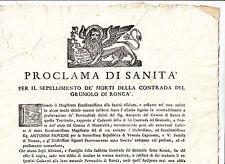 J972-REP.VENETA-VERONA GRUMOLO DI RONCA' SANITA' 1778