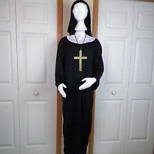 Nun Adult Halloween Costume One Size Unisex Spirit Robe Cross Collar Headpiece