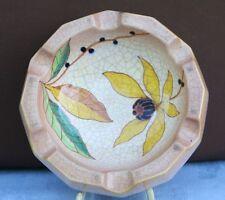 Rara vez!!! Rosenthal cenicero krakelee cerámica Germany mano pintado Flores