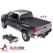 "For 2007-2018 Toyota Tundra Tonneau Cover Roll Up Lock Soft 6.5ft 78"" Short Bed"