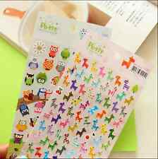 2sheet cute giraffe owl cartoon paper decorative phone stationery diary sticker