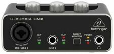 Behringer U-PHORIA UM2 USB 2x2 Audio Interface w/UM-2 XENYX Mic Preamp Free Ship