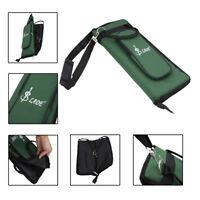 Stock Pocket Stick Bag Bag for Drumsticks Stick Bag Drumstick Bag,Green