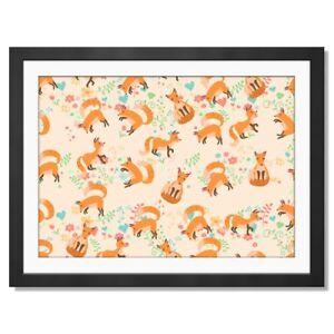 A3  - Ginger Fix Love Hearts Girl Pattern Framed Print 42X29.7cm #45152
