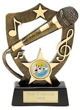 "KARAOKE Trophy 7"" FREE ENGRAVING Personalised Engraved Microphone Singing Award"