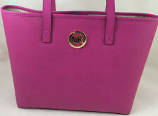 NEW Michael Kors MK Jet Set Small Travel Tote Bag Handbag Purse Saffiano Fuchsia