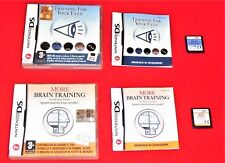 COPPIA GIOCHI NINTENDO DS TRAINING FOR YOUR EYES + MORE BRAIN TRAINING ORIGINALI