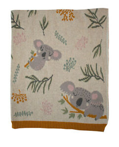 Kimberley Cotton Knit Baby Blanket Newborn Baby Shower Gift Idea