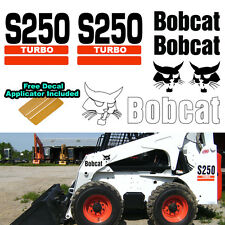 Bobcat S250 TURBO Skid Steer Set Vinyl Decal Sticker 7 PC SET + DECAL APPLICATOR