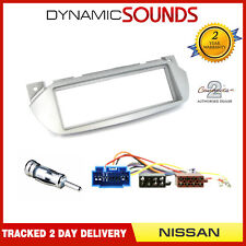 Car Stereo Radio Silver Fascia ISO Aerial Fitting Kit For Nissan PIXO 2009-2013