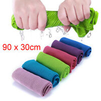 1 Pack Ice Cold Instant Cooling Towel Running Jogging Gym Chilly Pad Sports Yoga
