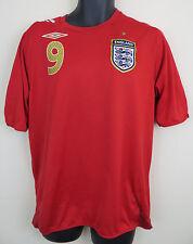 England Football Shirt WAYNE ROONEY Soccer Jersey 2006-08 #9 Skjorte Red L Large