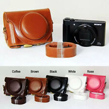 Leather Hard camera case bag Grip Strap For Sony DSC-HX90V HX90 WX500