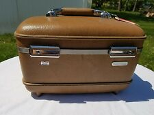 Vintage American Tourister Train Case Carry-On, Make-up, Caboodle-w/Key & Tray!