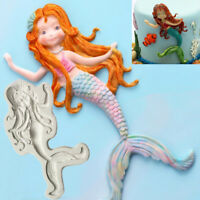 Silicone Mermaid Fondant Sugarcraft Cake Decorating Mold Chocolate Baking Mould