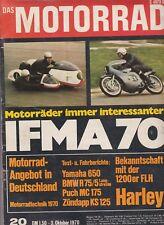 Das Motorrad Heft 20 3.Oktober 1970 IFMA Sonderheft Puch MC175 Zündapp KS125